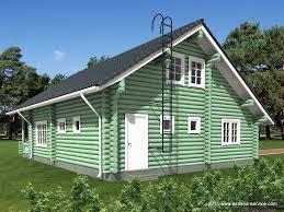 Landhausk He Zweistöckiges Estnisches Holz Landhaus