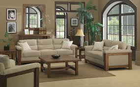 beautiful wood living room furniture combine with grey cover foam