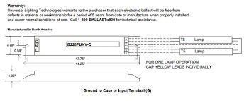 universal accustart5 b228punv c 2 lamp f28t5 f21t5 or f14t5