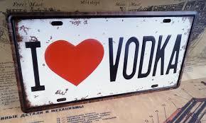 Love Home Decor Sign by I Love Vodka Car Plate Decor For Truck Tin Metal Signs Bar Pub