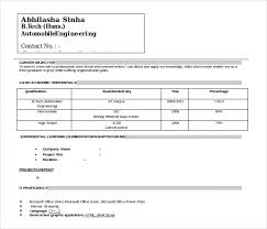 Ceo Resume Sample Doc by Automobile Resume Template U2013 22 Free Word Pdf Documents Download