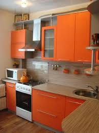Kitchen Paint Ideas In Orange Color  Best Purple Kitchens - Orange kitchen cabinets