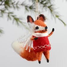 wool vest fox ornaments set of 4 world market