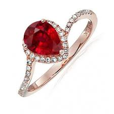 ruby red rings images Limited time sale 1 25 carat red pear cut ruby and halo diamond jpg