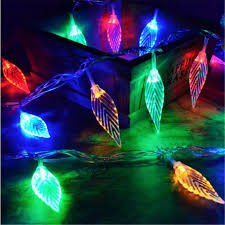 aliexpress com buy 8m 50 led tree leaves christmas string lights