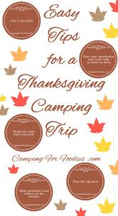tips to make cing on thanksgiving an easy and tent or rv trip