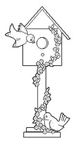 bird house coloring page wecoloringpage coloring home