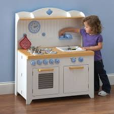 Kitchens For Toddlers by Young Chef U0027s Foldaway Kitchen Playset Hammacher Schlemmer Blog