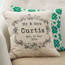 second year wedding anniversary vintage style mr and mrs cushion personalised cushions