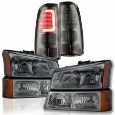 2004 chevy silverado led tail lights chevy silverado 2500 2003 2004 smoked headlights and custom led tail