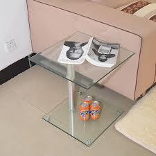 small sofa side table stylish minimalist modern glass coffee table sofa side a few small