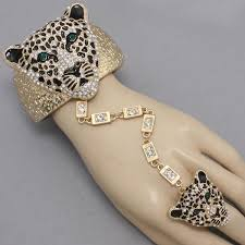bracelet with ring set images Pwb23341 leopard bracelet and ring set 25 99 shop trendy jpg