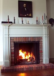 brick fireplace mantels with tv above home design ideas