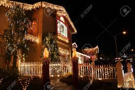 Christmas Lights On House by Christmas Lights House Stock Photos U0026 Pictures Royalty Free