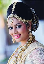 srilankan hairstyle traditional kandian bride with hair jewellery make up your sri