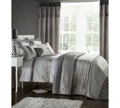 Catherine Lansfield Duvet Set Buy Catherine Lansfield Silver Gatsby Duvet Cover Set Double At
