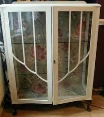 Curio Display Cabinets Uk Vintage Retro Upcycled Glass Display Cabinet Glass Display