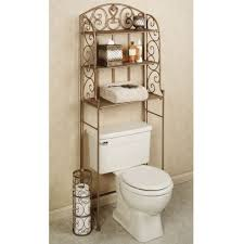 Bathroom Storage Above Toilet by Bathroom Victorian Style Metal Bathroom Storage Over Toilet