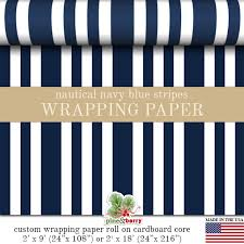 navy blue wrapping paper gift wrap nautical navy blue and white stripes pattern