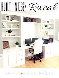 Built In Office Ideas Built In Office Ideas Built In Desk Reveal Built In Cabinet Ideas