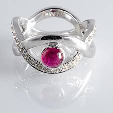 ruby rings designs images Natural no heat burma ruby set in designer white gold ring with jpg