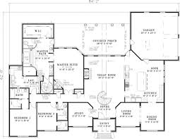 large floor plans leroux brick ranch home plan 055s 0046 house plans and more