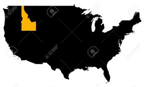 Idaho Map Usa by Idaho Location Map Usa High Resolution Mercator Projection