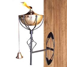 Torch Wall Sconce Wall Sconce Ideas Bell Wooden Torch Wall Sconce Brown Sle