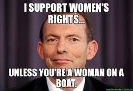 You Re Right Meme - i support women s rights unless you re a woman on a boat