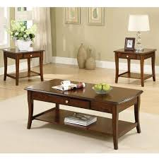 Oak Accent Table with Brookston Classic Style Dark Oak Coffee And End Table Set U2013 24 7