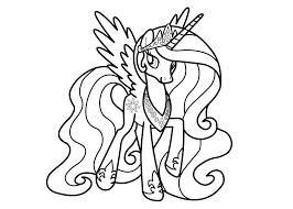 coloriage princesse celestia à imprimer