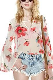 print blouses white semi sheer floral print blouse womens shirts blouses