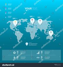 Pin World Map by Abstract Map Pin Icon Design Shadows Stock Vector 219462976