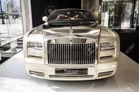Berlin March 08 2015 Showroom Luxury Car Rolls Royce Phantom