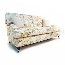 Furniture Upholstery Lafayette La Wade Upholstery Floyd Large Sofa In Floral Linen Fabric Made In