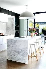 island kitchen bench designs contemporary island kitchen modern waterfall marble island modern