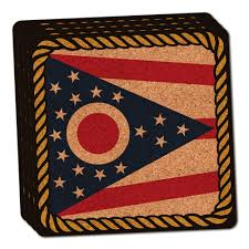 Ohio State Bathroom Accessories by Ohio State Flag Thin Cork Coaster Set Of 4 321797413667 9 99