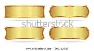 gold name tag gold name plate stock images royalty free images vectors