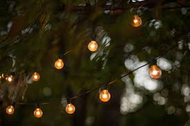 Stringing Lights In Backyard by String Light Pictures Images And Stock Photos Istock