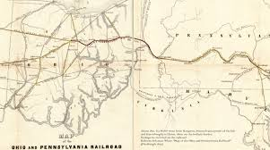 Pennsylvania Railroad Map by Ira Gerald Wolfe 12 December 1853 14 August 1916 Born