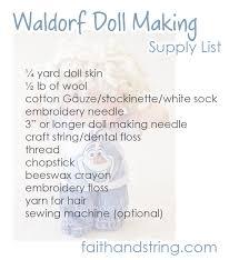 making a waldorf doll part 2 supplies faith u0026 string