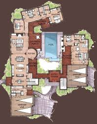 spanish style house plans with interior courtyard cool and opulent spanish hacienda floor plans with courtyards 10
