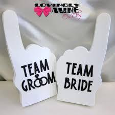 Photo Booth Prop Ideas Photobooth Props White Team Bride U0026 Team Groom Foam Fingers