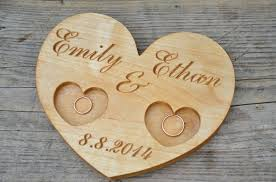ring holder for wedding 41 00 usd personalized wood wedding ring bearer rustic wedding