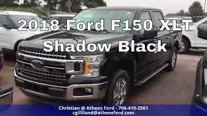 2018 ford f150 xlt shadow black first look youtube