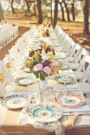mismatched plates wedding shabby chic wedding décor ideas wedding event ideas