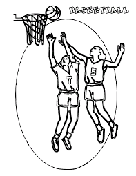 basketball coloring pages 1 coloring kids