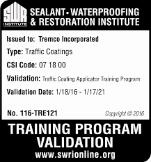 swr institute validated training programs