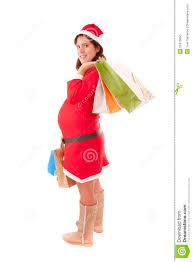 mrs santa claus pregnant stock photo image 22416650