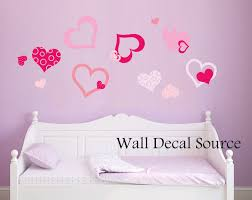 pretty heart decal heart wall decals girls wall decals zoom